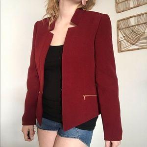 Tahari Arthur Levine red & gold blazer jacket